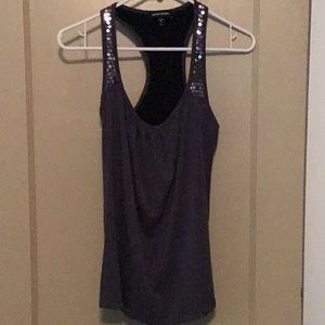 Bebe Sport tank with sequins